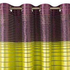 Oryginalna zasłona fioletowo-zielona 140x250 przelotki - 140x250 - Fioletowy / Zielony 3