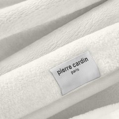Kremowy EKSKLUZYWNY KOC Clara od PIERRE CARDIN 220x240 cm z akrylem - 220 X 240 cm - kremowy 3
