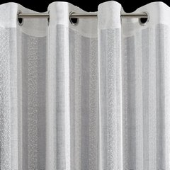 Zasłona w stylu eco subtelnepionowe pasy kremowa przelotki 140x250cm - 140 X 250 cm - kremowy 6