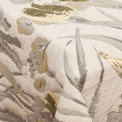 Narzuta dwustronna żakardowa irysy 220x240cm - 220 X 240 cm - oliwkowy 9