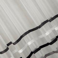 Zwiewna firanka paski grafitowe i kremowe 140x250 przelotki - 140 X 250 cm - kremowy 3