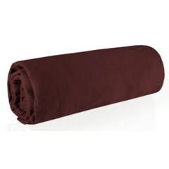 Prześcieradło bawełniane gładkie 160x200+30cm 150 kolor czekoladowy - 160 X 200 cm, wys.30 cm - ciemnobrązowy 1