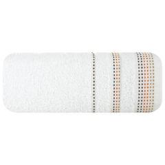 Ręcznik z bawełny z ozdobnym stebnowaniem 50x90cm - 50 X 90 cm - biały 2