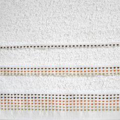 Ręcznik z bawełny z ozdobnym stebnowaniem 50x90cm - 50 X 90 cm - biały 4