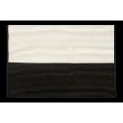 Dwukolorowa podkładka stołowa czarny i biały 30x45 cm - 30 X 45 cm - kremowy/czarny 1