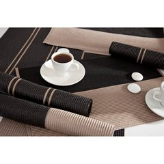 Dwukolorowa podkładka stołowa czarny i biały 30x45 cm - 30 X 45 cm - kremowy/czarny 2