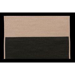 Dwukolorowa podkładka stołowa czarny i beż 30x45 cm - 30 X 45 cm - beżowy/czarny 1