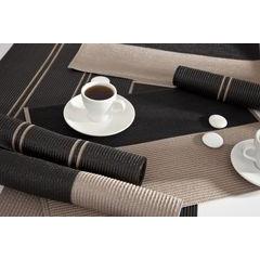 Dwukolorowa podkładka stołowa czarny i beż 30x45 cm - 30 X 45 cm - beżowy/czarny 4