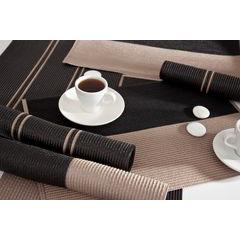Dwukolorowa podkładka stołowa czarny i beż 30x45 cm - 30 X 45 cm - beżowy/czarny 2