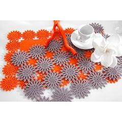 Filcowa podkładka stołowa bieżnik pomarańczowy 30x120 cm - 30 X 120 cm - jasnopomarańczowy 3