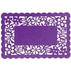 Podkładka stołowa ażurowa z filcu 30x120cm fiolet - 30 X 120 cm - fioletowy 1