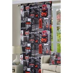 Poszewka na poduszkę 40 x 40 cm londyn szara czerwona  - 40 X 40 cm - wielokolorowy 3