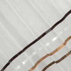 Zwiewna firanka brązowe paski 295x250 na taśmie - 140 X 250 cm - kremowy 3