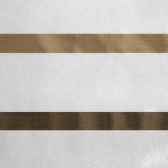 Zwiewna firanka brązowe paski 295x250 na taśmie - 140 X 250 cm - kremowy 4