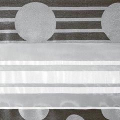Zasłona poziome pasy wzorzysta przelotki popielato-czarna 140x250cm - 140x250 - czarny 2
