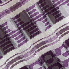 Zasłona poziome pasy wzorzysta przelotki fiolet 140x250cm - 140 X 250 cm - fioletowy 3
