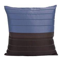 Poszewka na poduszkę 40 x 40 cm czarno granatowa  - 40x40 - granatowy / brązowy 1