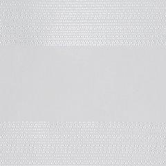 Zasłona w szerokie poziome pasy organza+atłas biała przelotki 140x300cm - 140x300 - biały 3