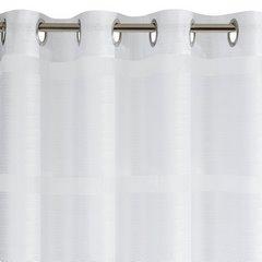 Zasłona w szerokie poziome pasy organza+atłas biała przelotki 140x300cm - 140 X 300 cm - biały 6