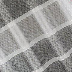 Zasłona w szerokie poziome pasy organza+atłas grafit przelotki 140x300cm - 140x300 - kremowy 2