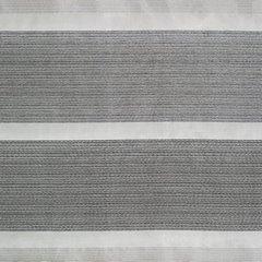 Zasłona w szerokie poziome pasy organza+atłas grafit przelotki 140x300cm - 140x300 - kremowy 3