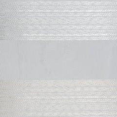 Zasłona w szerokie poziome pasy organza+atłas kremowy przelotki 140x300cm - 140 X 300 cm - kremowy 4