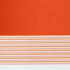 Zasłona w poziome pasy organza+satyna pomarańczowa przelotki 140x250cm - 140x250 - pomarańczowy 3