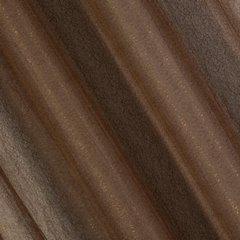 Zasłona dwuwarstwowa z delikatną siatką brązowa przelotki 135x300cm - 140 X 300 cm - brązowy 2