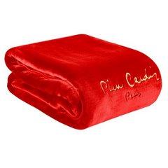 Karminowy EKSKLUZYWNY KOC Clara od PIERRE CARDIN 160x240 cm z akrylem - 160 X 240 cm - czerwony 3
