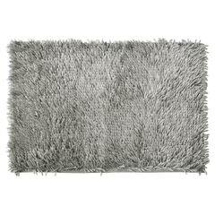 Srebrny dywan shaggy łazienkowy 50x70 cm - 50 x 70 cm - srebrny 2