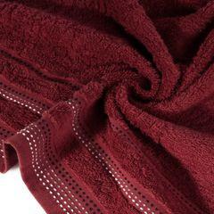 Ręcznik z bawełny z ozdobnym stebnowaniem 30x50cm - 30 X 50 cm - bordowy 5