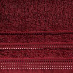Ręcznik z bawełny z ozdobnym stebnowaniem 50x90cm - 50 X 90 cm - bordowy 4