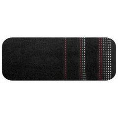 Ręcznik z bawełny z ozdobnym stebnowaniem 30x50cm - 30 X 50 cm - czarny 2