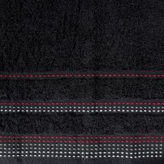 Ręcznik z bawełny z ozdobnym stebnowaniem 50x90cm - 50 X 90 cm - czarny 4