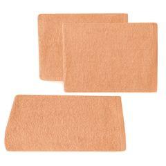 Ręcznik z bawełny gładki morelowy 50x90cm - 50 X 90 cm - pomarańczowy 1