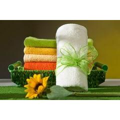 Ręcznik z bawełny gładki morelowy 50x90cm - 50 X 90 cm - pomarańczowy 3