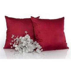 Poszewka na poduszkę srebrna gładka 40 x 40 cm  - 40 X 40 cm - popielaty 2