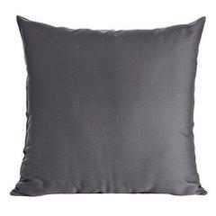Poszewka na poduszkę stalowa gładka 40 x 40 cm  - 40 X 40 cm - stalowy 1