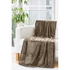 Miękki koc Inga brązowy 150x200cm - 150 X 200 cm - brązowy 2