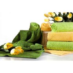 Gładki jednokolorowy ręcznik łazienkowy 50x90cm - 50 X 90 cm - zielony 3