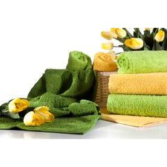 Ręcznik bawełniany gładki zielony 50x90 cm - 50 X 90 cm - zielony 3