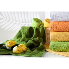 Ręcznik bawełniany gładki zielony 50x90 cm - 50 X 90 cm - zielony 6