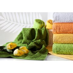 Gładki ręcznik kąpielowy morelowy 70x140 cm - 70 X 140 cm - pomarańczowy 10