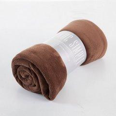 Brązowy GŁADKI KOC SIMPLE z mikrofibry 150x200 cm minimalistyczny - 150 X 200 cm - brązowy 5