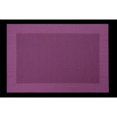 Fioletowa mata stołowa struktura tkaniny 30x45 cm - 30 X 45 cm - fioletowy 1