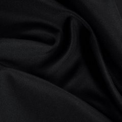 Czarna gładka zasłona z matowej satyny 140x250 przelotki - 140x250 - czarny 2