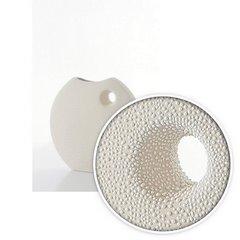 Wazon ceramiczny o płaskim kształcie 27 - 27 X 7 X 27 cm - ecru 6