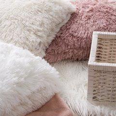 Poszewka na poduszkę 40 x 40 cm kremowa futerko  - 40x40 - kremowy 4