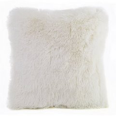 Poszewka na poduszkę 40 x 40 cm kremowa futerko  - 40x40 - kremowy 1