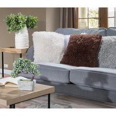 Poszewka na poduszkę 40 x 40 cm czarna futerko  - 40x40 - brązowy 4